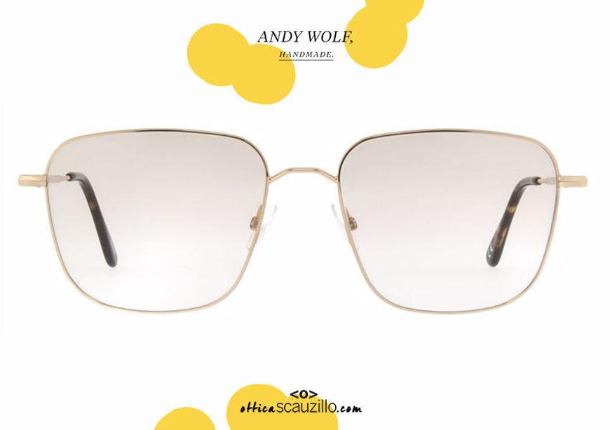 shop online new Square metal eyeglasses Andy Wolf mod. 4742 col.B gold otticascauzillo.com acquisto online nuovo Occhiale da vista metallo quadrato Andy Wolf mod. 4742 col.B oro
