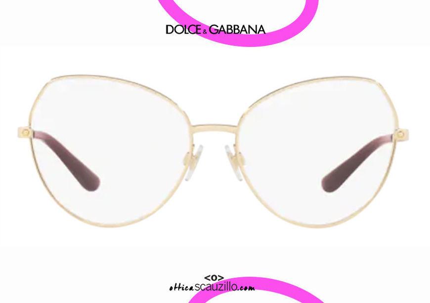 acquisto online nuovo Occhiale da vista metallo tondo a punta Dolce&Gabbana DG1320 col.02 oro otticascauzillo.com shop online new Round metal eyeglasses with pointed tip Dolce&Gabbana DG1320 col.02 gold
