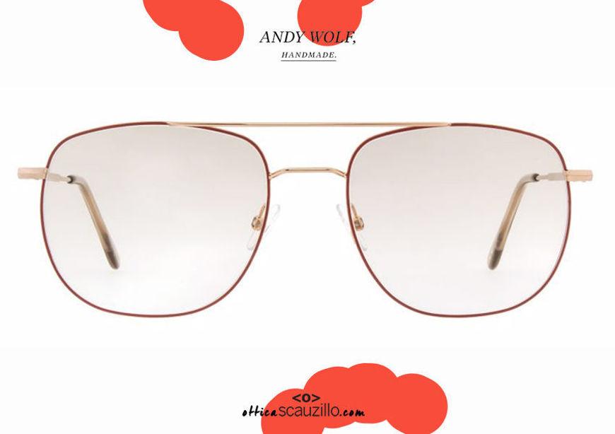 shop online Metal double bridge eyeglasses Andy Wolf mod. 4741 col. C rose gold otticascauzillo.com acquisto online nuovo Occhiale da vista metallo doppio ponte Andy Wolf mod. 4741 col.C oro rosa