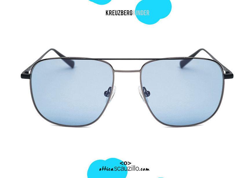 shop online your newDouble bridge metal sunglasses KreuzbergKinder EREZ col. light blue lenses on otticascauzillo.com acquisto online il tuo nuovo Occhiale da sole metallo doppio ponte KreuzbergKinder EREZ  col. lenti celesti