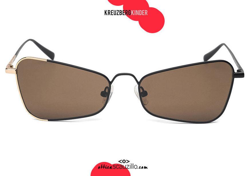 shop online new Pointed cat eye metal sunglasses KreuzbergKinder MINA col. black and gold on otticascauzillo.com acquisto online nuovo occhiale  da sole metallo cat eye a punta KreuzbergKinder MINA  col. nero e oro