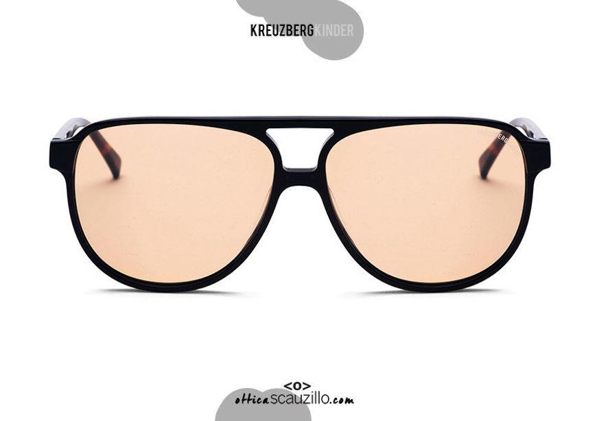 shop online new Oversized aviator sunglasses KreuzbergKinder TONY col. orange lens on otticascauzillo.com acquisto online nuovo Occhiale da sole aviator oversize KreuzbergKinder TONY  col. lente arancione