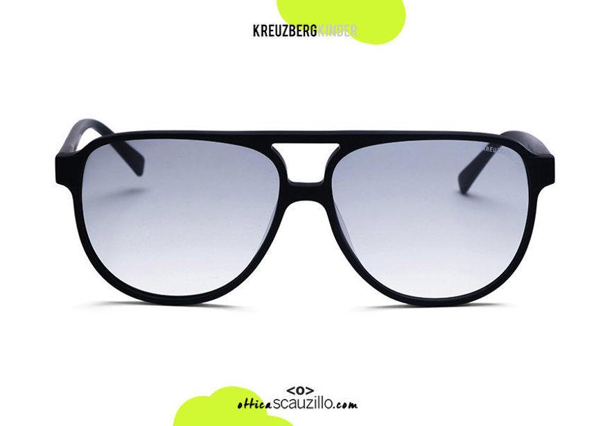 shop online ne New oversized aviator sunglasses  KreuzbergKinder TONY col. black on otticascauzillo.com acquisto online nuovo Occhiale da sole aviator oversize KreuzbergKinder TONY  col. nero