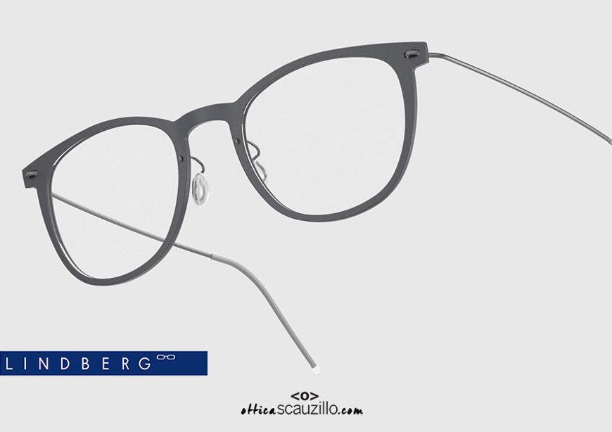 shop online Titanium eyeglasses N.O.W LINDBERG 6529 col. D15 satin gray on otticascauzillo.com acquisto online nuovo Occhiale da vista titanio N.O.W LINDBERG 6529 col. D15 grigio satinato