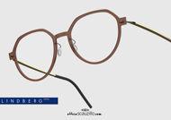 shop online new Round titanium eyeglasses N.O.W LINDBERG 6582 col. C02M-PGT brown and gold on otticascauzillo.com acquisto online nuovo  Occhiale da vista titanio tondo N.O.W LINDBERG 6582 col. C02M-PGT marrone e oro