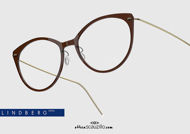 shop online new Titanium cat eye eyeglasses N.O.W LINDBERG 6564 col. C10-PGT black and gold on otticascauzillo.com acquisto online nuovo Occhiale da vista titanio cat eye N.O.W LINDBERG 6564 col. C10-PGT nero e oro