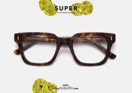 shop online New vintage square eyeglasses RETRO SUPER FUTURE Numero 79 col. brown havana on otticascauzillo.com acquisto online  Nuovo occhiale da vista squadrato vintage RETRO SUPER FUTURE Numero 79 col. havana marrone