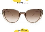 shop online new Gold cat eye eyeglasses with gradient clip SNOB Milano MICETTA STRASS SNV118MC003Z on otticascauzillo.com acquisto online nuovo occhiale da vista cat eye oro con clip sfumata SNOB Milano MICETTA STRASS SNV118MC003Z
