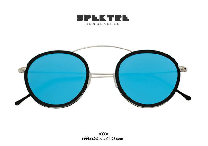 shop online new Spektre METRO 2 FLAT blue mirror raised bridge round sunglasses on otticascauzillo.com acquisto online nuovo Occhiale da sole tondo ponte sopraelevato Spektre METRO 2 FLAT specchio blu