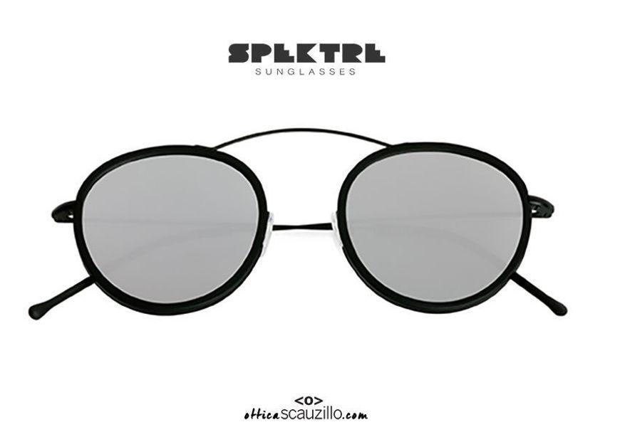 shop online new Round sunglasses with raised bridge Spektre METRO 2 FLAT silver mirror on otticascauzillo.com acquisto online nuovo Occhiale da sole tondo ponte sopraelevato Spektre METRO 2 FLAT specchio argento