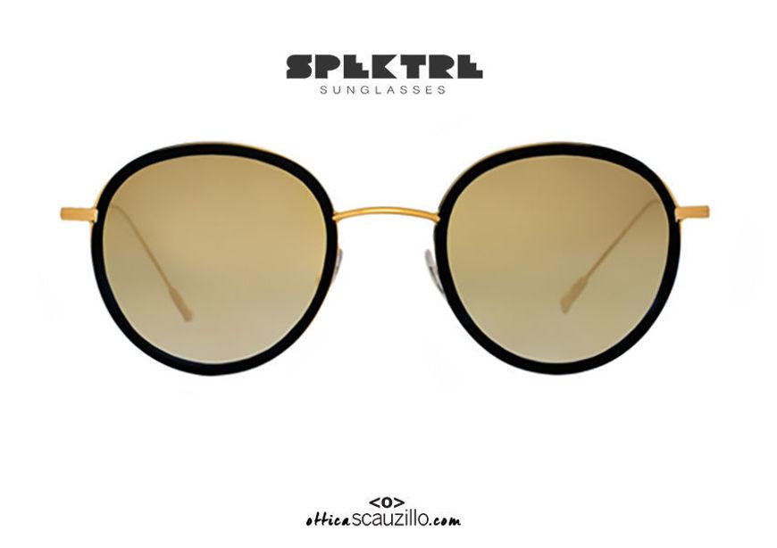 shop online new Spektre MORGAN gold metal round sunglasses with gold mirror on otticascauzillo.com acquisto online nuovo Occhiale da sole tondo in metallo oro Spektre MORGAN specchio oro