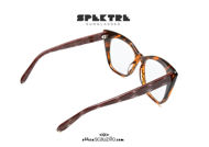 shop online new Super oversized Spektre FUJITA brown streaked eyeglasses on otticascauzillo.com acquisto online nuovo Occhiale da vista super oversize Spektre FUJITA marrone striato