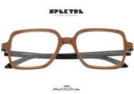 shop online new Oversized square Spektre CUORE MATTO brown glitter eyeglasses on otticascauzillo.com acquisto online nuovo Occhiale da vista oversize squadrato Spektre CUORE MATTO marrone glitter