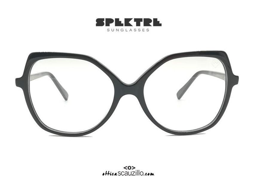 shop online new Oversized round eyeglasses with black and havana Spektre ALTEA tips on otticascauzillo.com acquisto online nuovo Occhiale da vista oversize tondo con punte Spektre ALTEA nero e havana