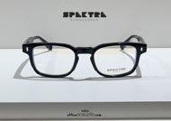shop online new Spektre narrow rectangular eyeglasses AD MAIORA 01V black on otticascauzillo.com acquisto online nuovo Occhiale da vista rettangolare stretto Spektre AD MAIORA 01V nero