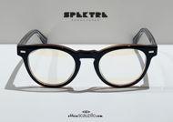 shop online new Spektre VECTOR 02V black and brown vintage round eyeglasses on otticascauzillo.com acquisto online nuovo occhiale da vista tondo vintage Spektre VECTOR 02V nero e marrone