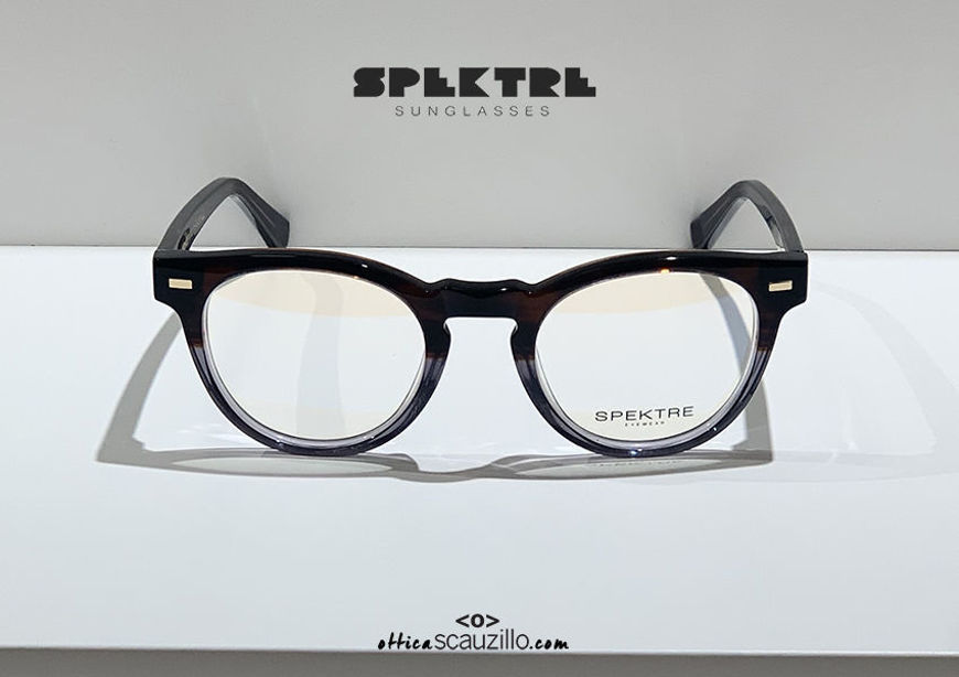 shop online new Spektre VECTOR 01V brown and gray vintage round eyeglasses acquisto online nuovo Occhiale da vista tondo vintage Spektre VECTOR 01V marrone e grigio
