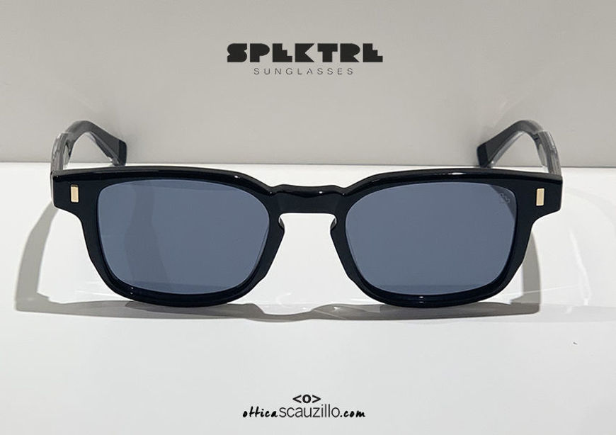 shop online new Spektre narrow rectangular black sunglasses AD MAIORA 01V black lenses on otticascauzillo.com acquisto online nuovo Occhiale da sole rettangolare stretto nero Spektre AD MAIORA 01V lenti nere