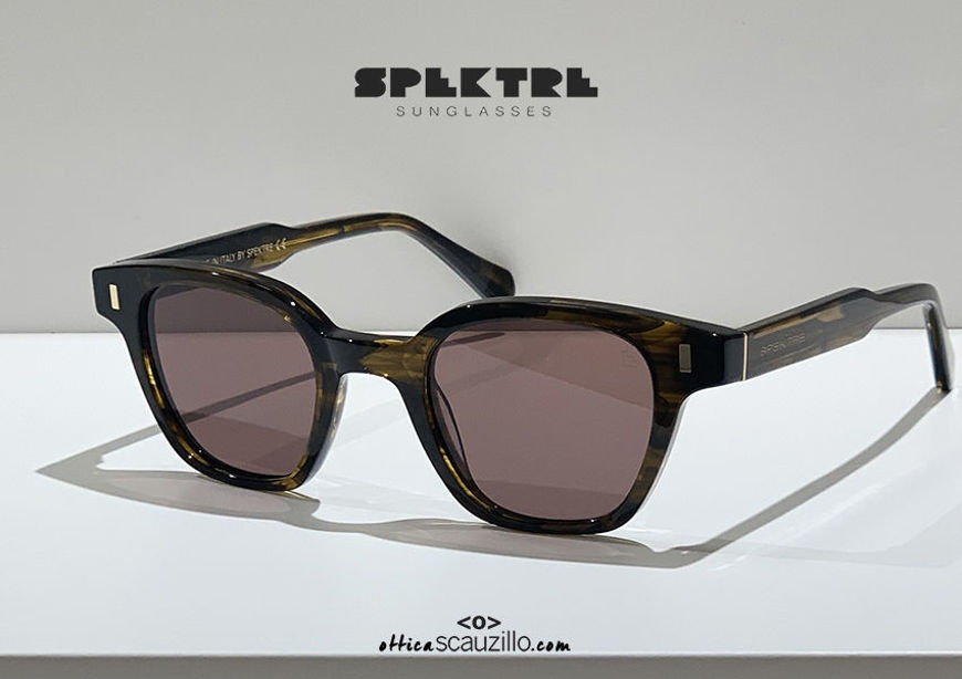 shop online new Vintage Spektre COMMODO 02V brown square sunglasses on otticascauzillo.com acquisto online nuovo Occhiale da sole squadrato vintage Spektre COMMODO 02V marrone