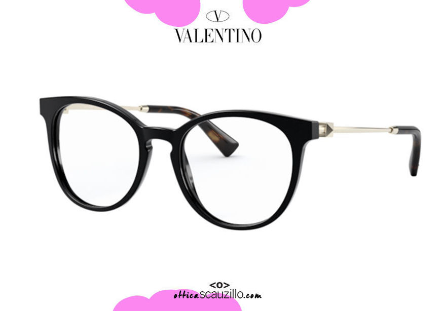 shop online new New eyeglasses with studded temple Valentino VA3046 col. 5001 black on otticascauzillo.com acquisto online nuovo Nuovo occhiale da vista con asta borchiata Valentino VA3046 col.5001 nero