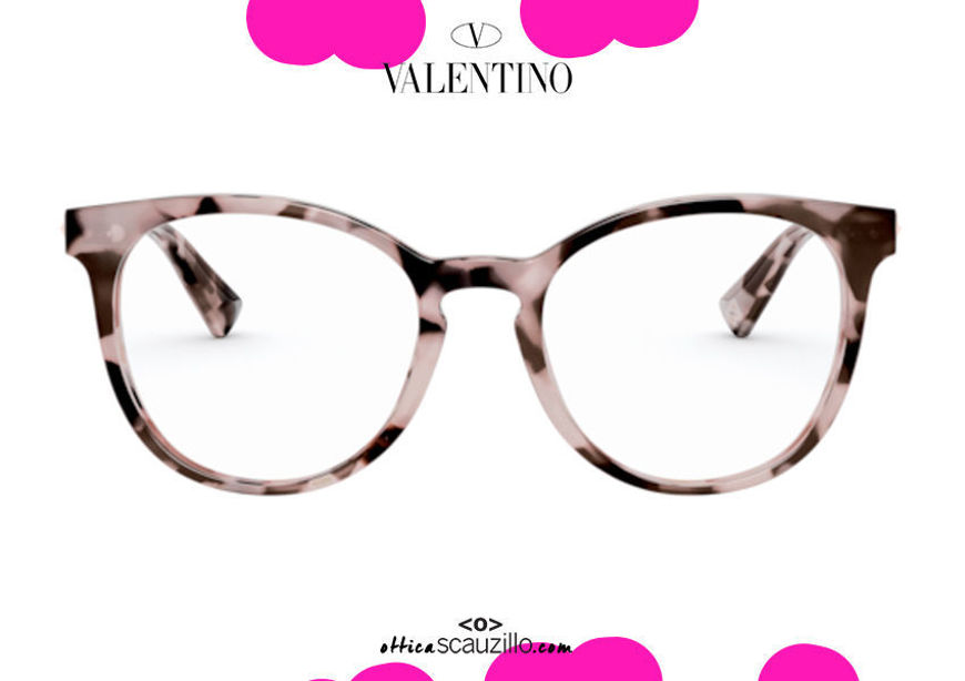 shop online new New eyeglasses with studded temple Valentino VA3046 col.5067 pink havana on otticascauzillo.com acquisto online Nuovo occhiale da vista con asta borchiata Valentino VA3046 col.5067 havana rosa