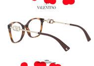 shop online new eyeglasses with rhinestone V logo Valentino VA3050 col.5011 brown havana on otticascauzillo.com acquisto online nuovo  occhiale da vista con logo V strass Valentino VA3050 col.5011 havana marrone