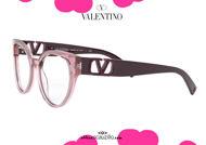shop online new Oval oversize butterfly eyeglasses Valentino VA3043 col.5147 pink on otticascauzillo.com acquisto online nuovo Occhiale da vista a farfalla ovale oversize Valentino VA3043 col.5147 rosa