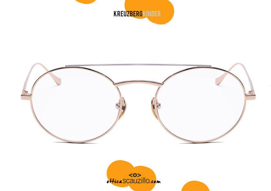 shop online new Double bridge oval metal eyeglasses KreuzbergKinder ESET col. gold on otticascauzillo.com acquisto online nuovo Occhiale da vista in metallo ovale doppio ponte KreuzbergKinder ESET col. oro