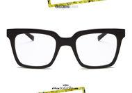 shop online new Square acetate eyeglasses KreuzbergKinder DARIUS col. black on otticascauzillo.com acquisto online nuovo occhiale da vista in acetato quadrato KreuzbergKinder DARIUS col. nero