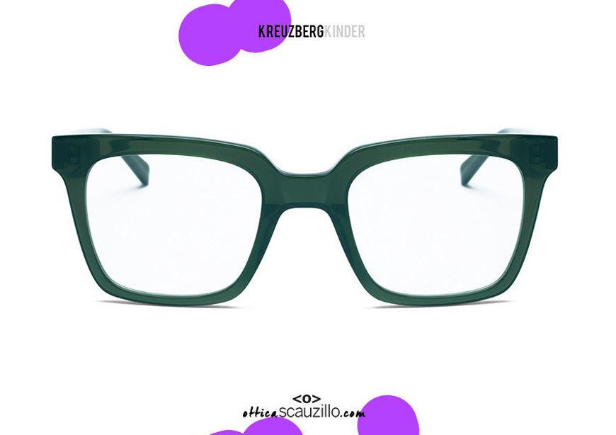 shop online new Square acetate eyeglasses KreuzbergKinder DARIUS col. green on otticascauzillo.com acquisto online nuovo occhiale da vista in acetato quadrato KreuzbergKinder DARIUS col. verde