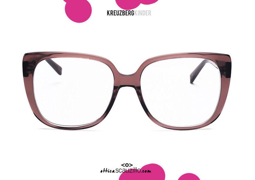 shop online new KreuzbergKinder XENIA oversized squared brown acetate eyeglasses on otticascauzillo.com acquisto online nuovo Occhiale da vista in acetato squadrato oversize KreuzbergKinder XENIA col.marrone