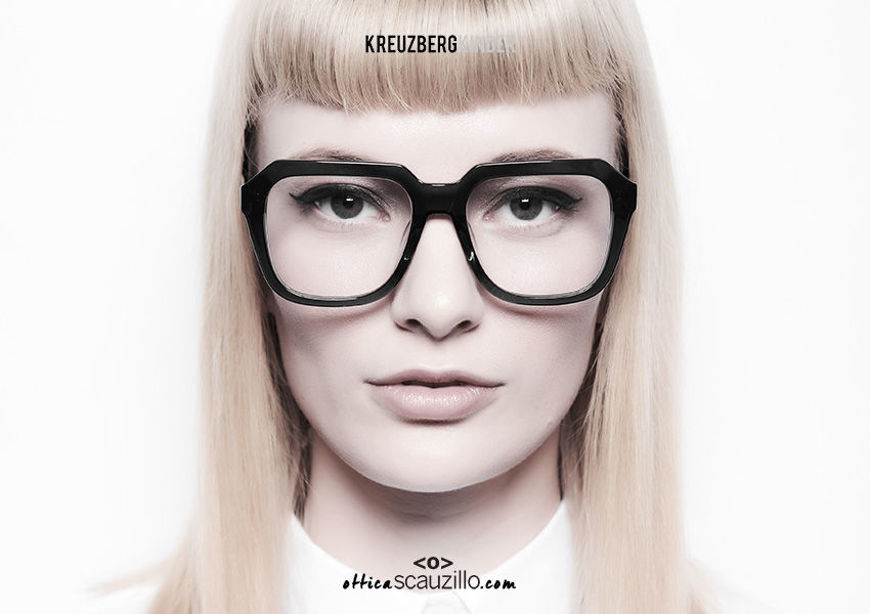 acquisto online nuovo Occhiale da vista in acetato squadrato oversize KreuzbergKinder ALEX col. nero su otticascauzillo.com shop online new  Oversized square acetate eyeglasses KreuzbergKinder ALEX col. black