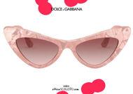 shop online new Dolce & Gabbana Devotion VG4368 cat eye sunglasses col. pink on otticascauzillo.com acquisto online nuovo occhiale da sole cat eye Dolce & Gabbana Devotion VG4368 col. rosa