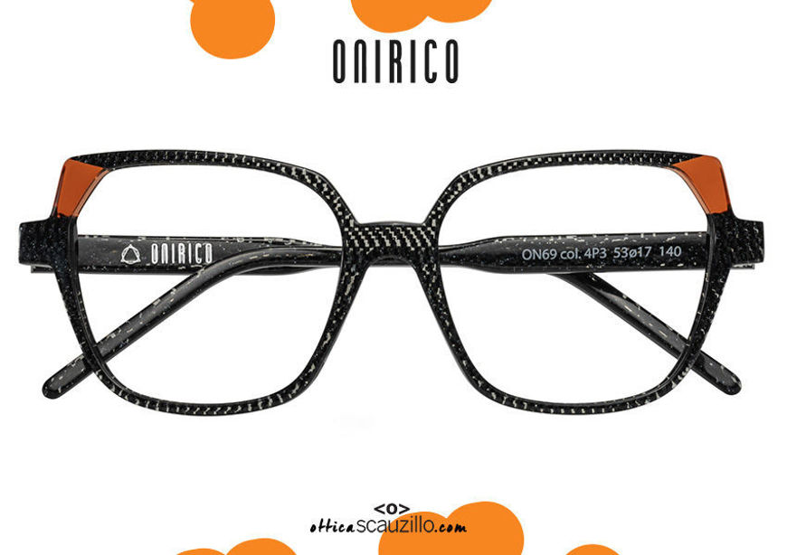 soap online new Oversized squared eyeglasses ONIRICO ON69 col.4P3 black and orange on otticascauzillo.com acquisto online nuovo Occhiale da vista squadrato oversize ONIRICO ON69 col.4P3 nero e arancio