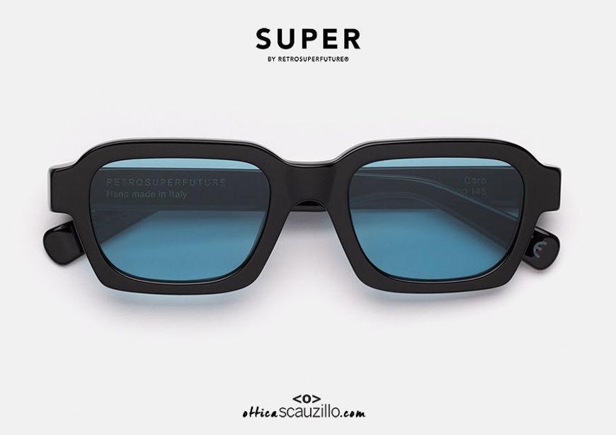 shop online New square sunglasses RETRO SUPER FUTURE CARO black on otticascauzillo.com acquisto online nuovo occhiale da sole squadrato RETRO SUPER FUTURE CARO nero