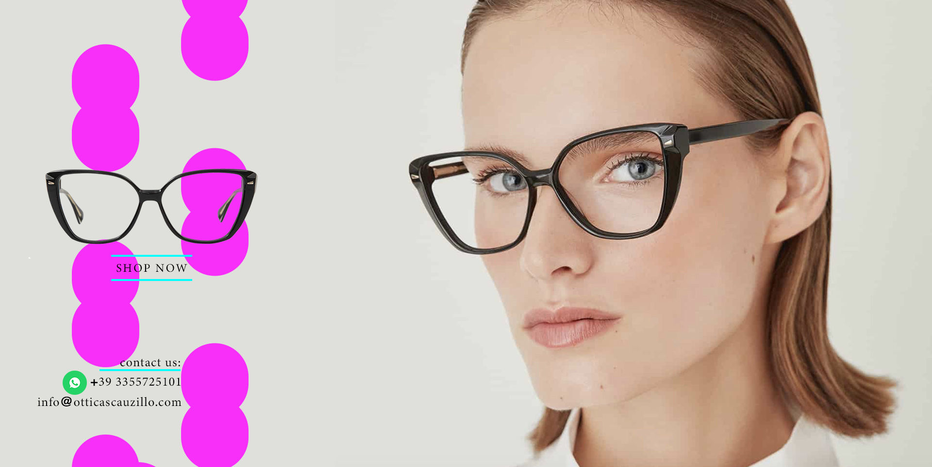 Oversized pointed eyeglasses GIGI Studios ITZIAR 6541/1 black