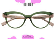 shop online new Round cat eye eyeglasses with ONIRICO ON66 col. 846 green and pink on otticascauzillo.com acquisto online nuovo occhiale  da vista tondo cat eye a punta ONIRICO ON66 col.846 verde e rosa