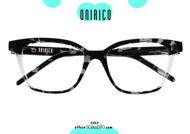 shop online new Rectangular pointed eyeglasses ONIRICO ON79 col. 199 black transparent on otticascauzillo.com acquisto online nuovo  Occhiale da vista rettangolare a punta ONIRICO ON79 col.199 nero trasparente