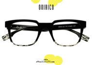 acquisto online nuovo Occhiale da vista rettangolare vintage design ONIRICO ON55 col.110 nero su otticascauzillo.com shop online new Vintage rectangular eyeglasses ONIRICO ON55 col. 110 black
