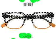 shop online new ONIRICO ON55 vintage rectangular eyeglasses design col.205 checkered on otticascauzillo.com acquisto online nuovo Occhiale da vista rettangolare vintage design ONIRICO ON55 col.205 a scacchi