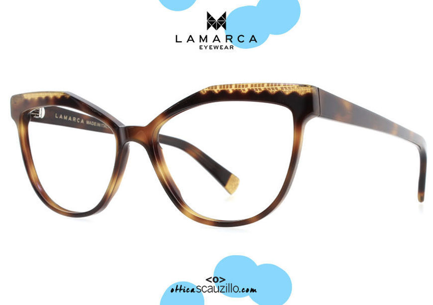 acquisto online nuovo Occhiale da vista cat eye a farfalla Lamarca FUSIONI mod.74 col.02 marrone havana su otticascauzoillo.com shop online new  Cat eye butterfly eyeglasses Lamarca FUSIONI mod.74 col.02 brown havana