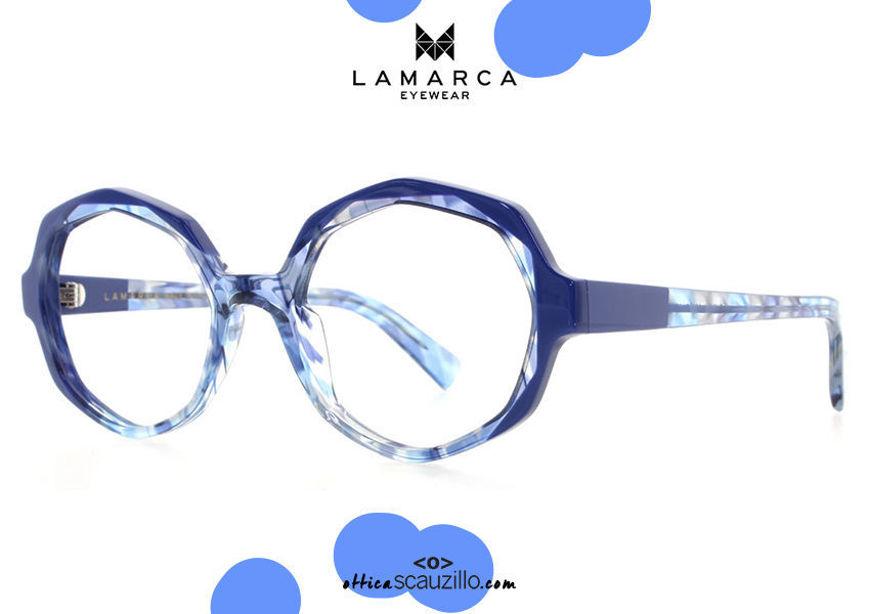 acquisto online nuovo Occhiale da vista rotondo spezzato Lamarca FUSIONI mod.80 col.03 blu su otticascauzillo.com shop online new Round broken eyeglasses Lamarca FUSIONI mod.80 col.03 blue