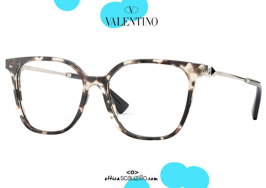 shop online new Oversized square eyeglasses Valentino VA3055 col.5097 brown havana on otticascauzillo.com acquisto online nuovo Occhiale da vista squadrato oversize Valentino VA3055 col.5097 marrone havana