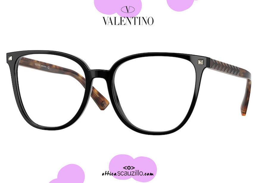 shop online new Oversized squared eyeglasses with studs Valentino VA 3059 col.5001 black on otticascauzillo.com acquisto online nuovo  Occhiale da vista squadrato oversize con borchie Valentino VA 3059 col.5001 nero