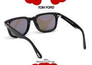 shop online on otticascauzillo.com new Vintage square sunglasses TOM FORD DARIO FT 0817 col.01E black and brown acquisto online su otticascauzillo.com il tuo nuovo Occhiale da sole squadrato vintage TOM FORD DARIO FT 0817 col.01E nero e marrone