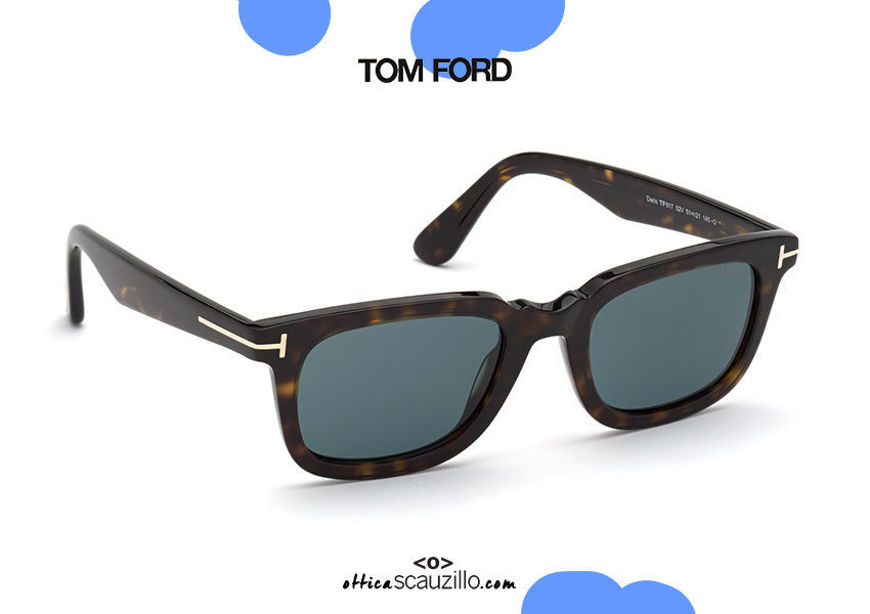 shop online on otticascauzillo.com new Vintage square sunglasses TOM FORD DARIO FT 0817 col.52V havana and blue on otticascauzillo.com acquisto online nuovo Occhiale da sole squadrato vintage TOM FORD DARIO FT 0817 col.52V avana e blu