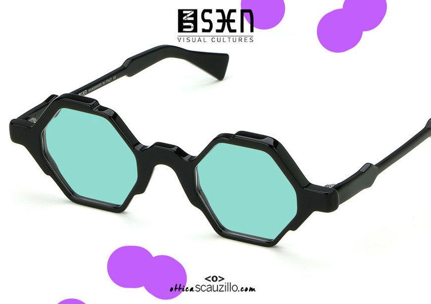 shop online new Hexagon sunglasses UNSEEN TIME col.01 black on otticascauzillo.com acquisto online nuovo Occhiale da sole esagono UNSEEN TIME col.01 nero