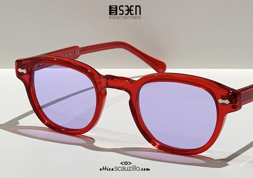 shop online new Small moscot sunglasses UNSEEN TRIBUTE col.03 red on otticascauzillo.com acquisto online nuovo Occhiale da sole moscot piccolo UNSEEN TRIBUTE col.03 rosso