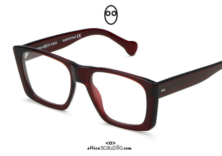 acquisto online nuovo Occhiale da vista rettangolare ampio Saturnino Eyewear HARLEM col. 5 bordeaux su otticascauzillo.com shop online new  Wide rectangular eyeglasses Saturnino Eyewear HARLEM col. 5 burgundy