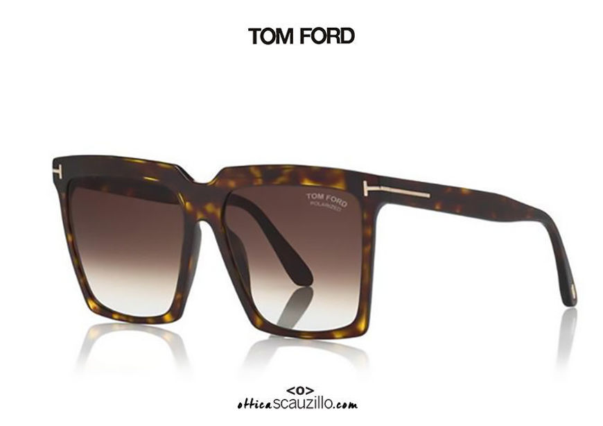 shop online new Super oversized square sunglasses TOM FORD SABRINA FT 0764 brown havana on otticascauzillo.com acquisto online nuovo Occhiale da sole squadrato super oversize TOM FORD SABRINA FT 0764 avana marrone